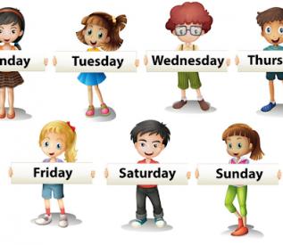 Phát triển nhận thức: Kể tên các thứ trong tuần (Bé Hà My- lớp Donald)