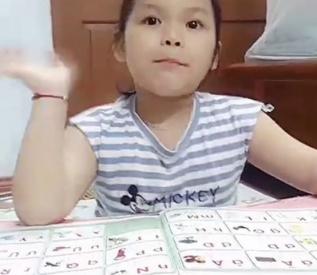 Bé đọc bảng chữ cái Tiếng Việt (Bé Khánh An)