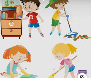 Bài tập KNS: Bé giúp mẹ làm việc nhà ( Các bạn lớp mẫu giáo bé)